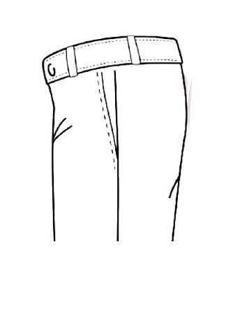 Pantaloni Tasca Front Americana