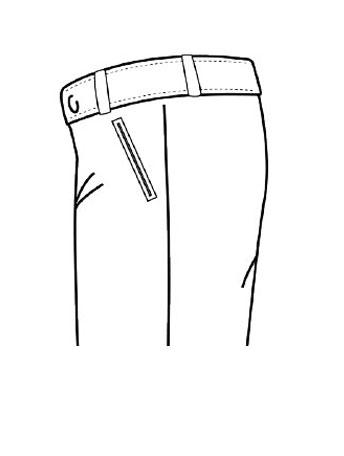 Pantaloni Tasca Front Classica