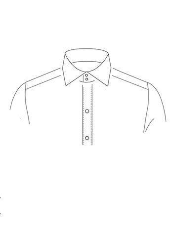High Spread Collar with two buttons