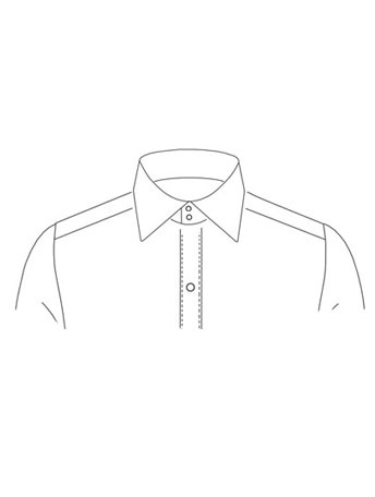 Classic Straight point collar with two buttons
