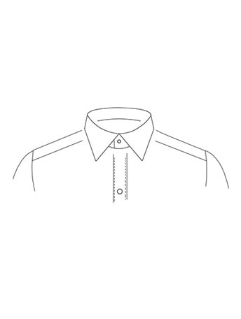 Classic Straight point collar