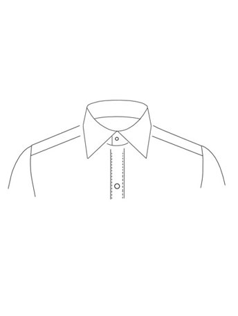 Regular Straight point collar