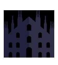 icona stilizzata del Duomo di Milano