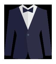 icona stilizzata abito elegante