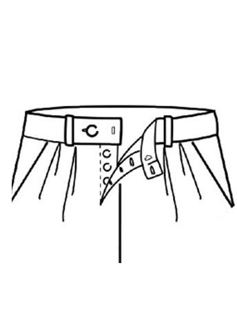 Pantaloni con Bottone